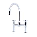 Perrin & Rowe Io 2 Hole Sink Mixer with Crossheads