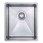 Essentials 10º Radius Single Bowl Undermount Sink