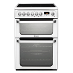 Hotpoint FREESTANDING Ultima 60cm Double Oven Ceramic Cooker
