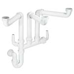 McAlpine Triple Bowl Plumbing Kit
