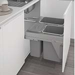 Crown Spaceworks 3 Compartment Waste Bin