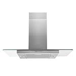 Unbadged Flat Glass Island Hood