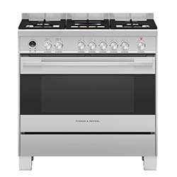 Fisher & Paykel 90cm Pyrolytic Dual Fuel Range Cooker