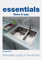 graphic of Essentials sink and tap brochure front cover
